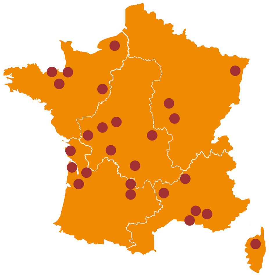 Map of our rides in France