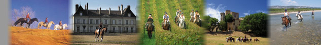 Ride in France - Horse riding trail, horseback vacations and equestrian holidays in France