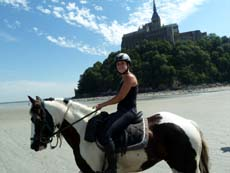 Equestrian holidays in Mont Saint Michel Bay between Brittany and Normandy - Ride in France